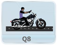 A person driving a bike is standing on the road on a rainy day. If he starts to move with velocity v, In which direction will the rain appear to him if  (a) Rain is falling vertically  (b) Rain is falling at an angle away from him?