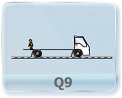 A boy is playing with ball inside a moving vehicle as shown. If acceleration to him is throwing the ball straight up and catching it back. What will be the motion of the ball as seen by an observer on the ground?