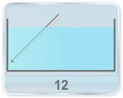 A rod of length is hinged at one end at a distance below the water surface as shown in figure. (Specific gravity of the material, length and mass of the rod is given) Find (a) the length of rod under water (b) angle made by rod with the vertical (c) What weight must attached to the other end of the rod so that a given length of the rod is submerged? (d) Find the magnitude and direction of the force exerted by the hinge on the rod.