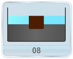 A cubical block of iron with given side length is floating on mercury in a vessel (a) What is the height of the block above mercury level? (b) Water is poured into the vessel so that it just covers the iron block? What is the height of the water column? (Densities of mercury and iron is given)