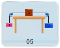 As shown in figure, the three blocks with given mass attain a given acceleration, when released from rest. Find the coefficient of kinetic friction between block 2 and the table.