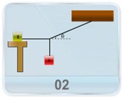 A block m1 kept on a rough, horizontal surface is connected to m2 by a string over an ideal pulley as shown in figure. Determine the magnitude of the acceleration of the two objects. Given the coefficient of kinetic friction between the block and the surface is known.
