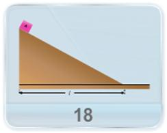 A small body A starts sliding down from the top of wedge whose base legth is given. The coefficient of friction between the body and the wedge surface is known. At what value of the angle of inclination, will the time of sliding be the least?