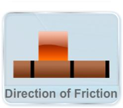 This video gives a detailed description of methods of finding the direction of friction for static and kinetic conditions. The direction of friction is always such that it opposes the relative motion between two surfaces.