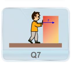 A boy of mass M is applying a horizontal force to slide a box of mass M' on a rough horizontal surface. The coefficient of friction between the shoes of the boy and the floor is m and between the box and the floor is m'. In which of the following cases it is certainly not possible to slide the box? (a) m < m', M < M' (b) m > m', M < M' (c) m < m', M > M' (d) m > m', M > M'