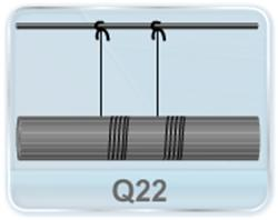 A cylinder of mass m is suspended through two strings wrapped around it as shown in figure. Find (a) the tension T in the string and (b) acceleration of the cylinder when released from rest.