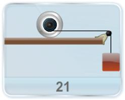 A double pulley of mass M, outer radius R and inner radius r is kept on rough surface. A light inextensible string is wound on the inner pulley and is attached to a mass m as shown in figure. There is no slipping between the pulley and string and the pulley and ground. Find acceleration of the block.