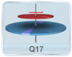 Disk 1 rotating about a smooth vertical axis with the angular velocity w1 is kept on a stationary Disk 2 as shown in figure. Find the final angular velocity of the disks, given that the moments of inertia of the disks relative to the rotation axis are equal to I1 and I2, respectively. The contact surface of the disks is rough.