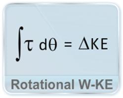 This video describes the work done in a rotational motion as the change in rotational kinetic energy and the power in term of torque and angular velocity.